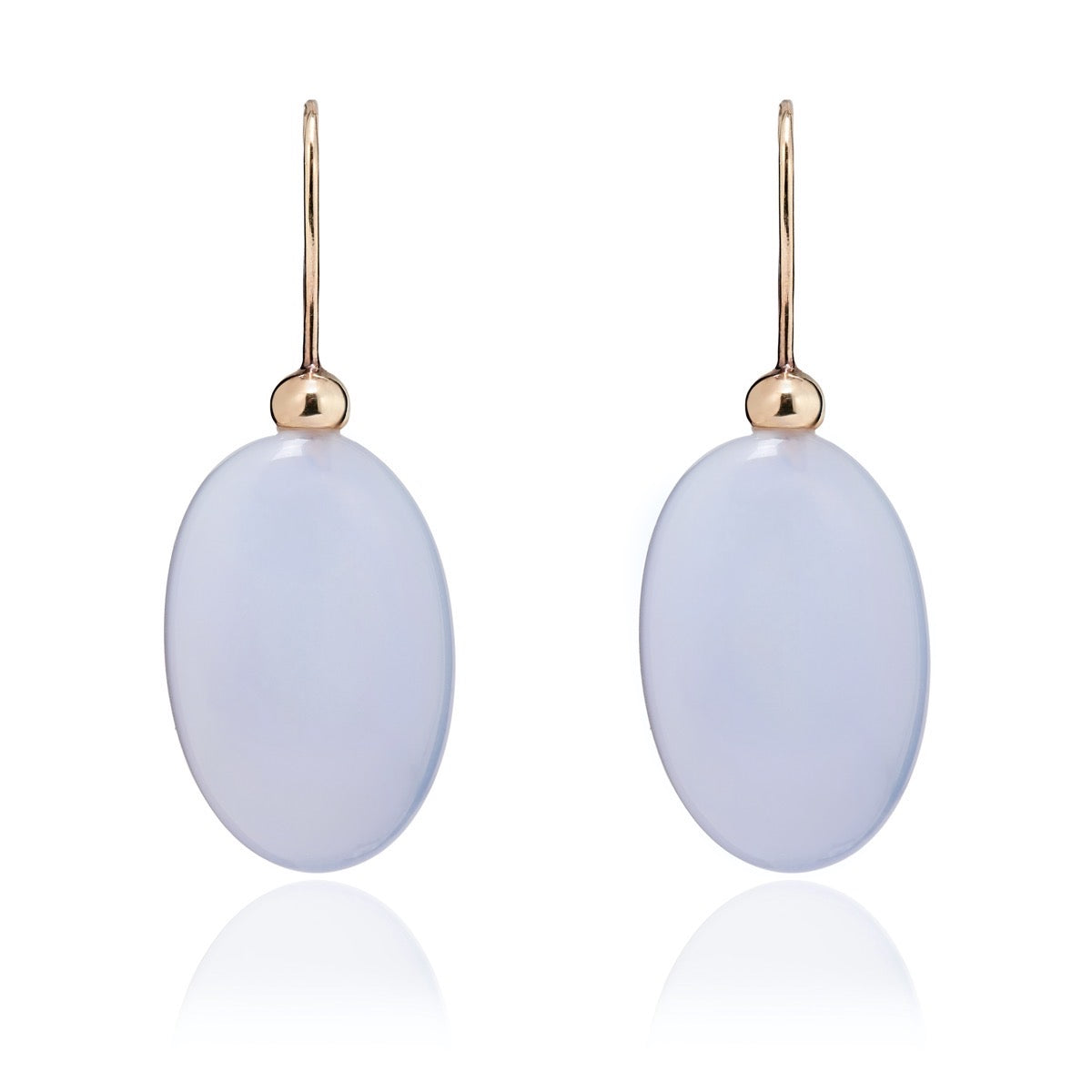 Chalcedony Pebble Earrings