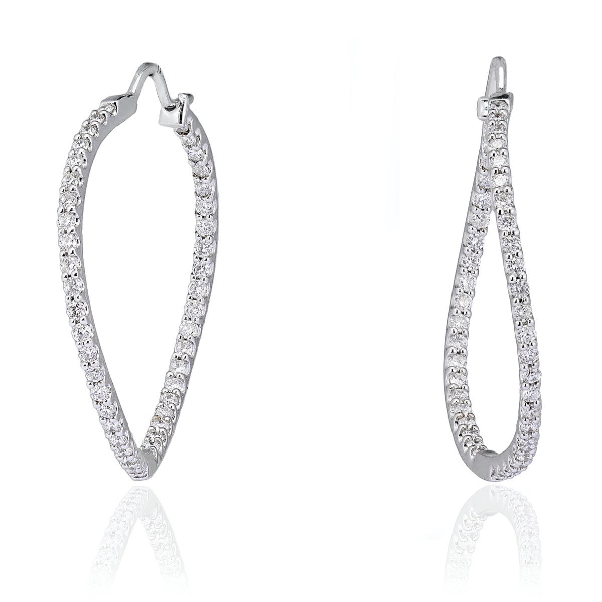 Diamond Ripple Hoops