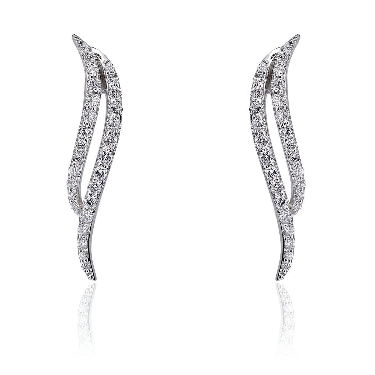 Diamond Wave Earrings