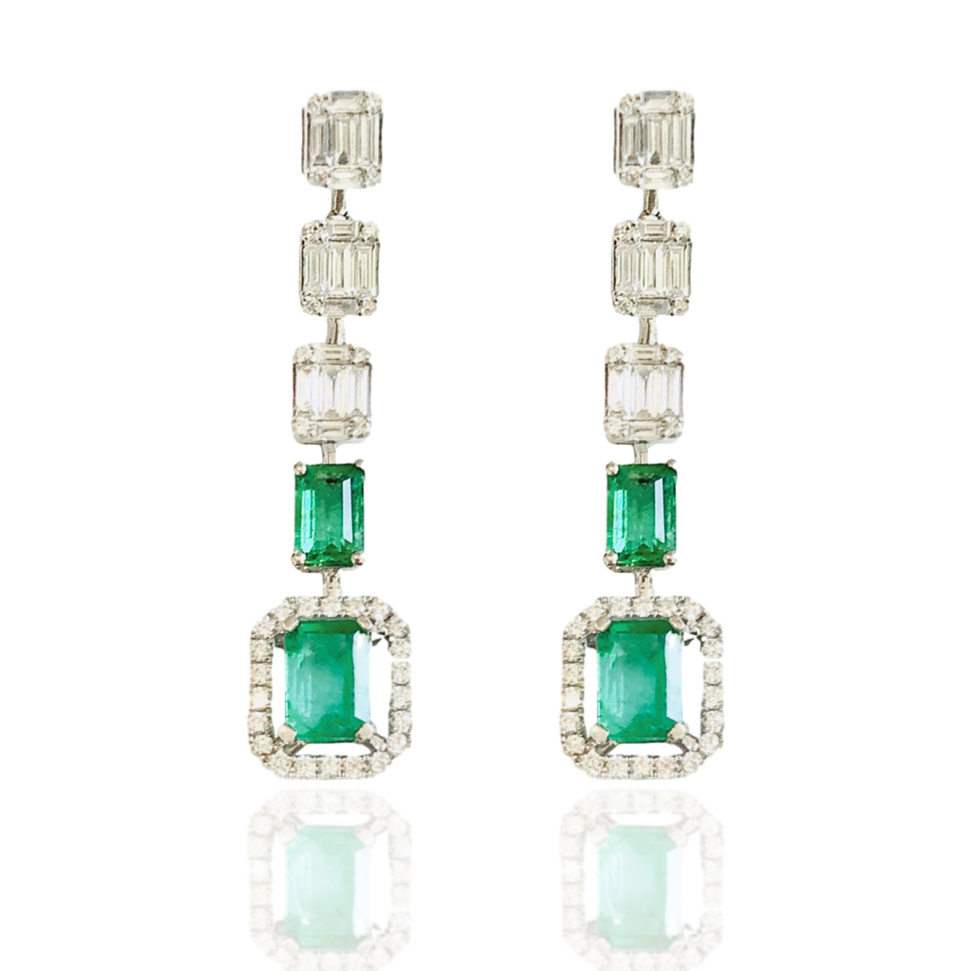 Emerald and Diamond Ava Earring