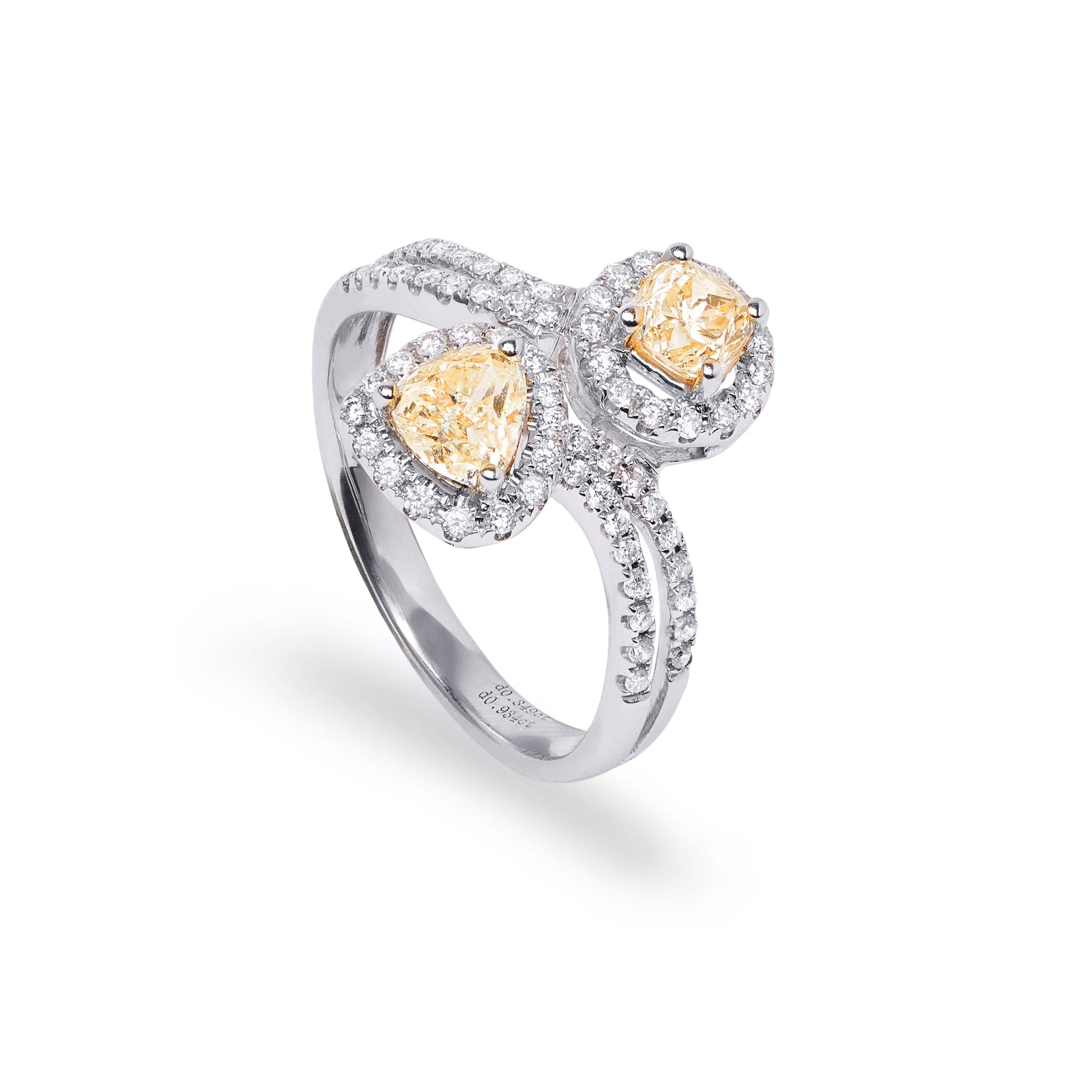 'Toi et Moi' Fancy Yellow Diamond Ring