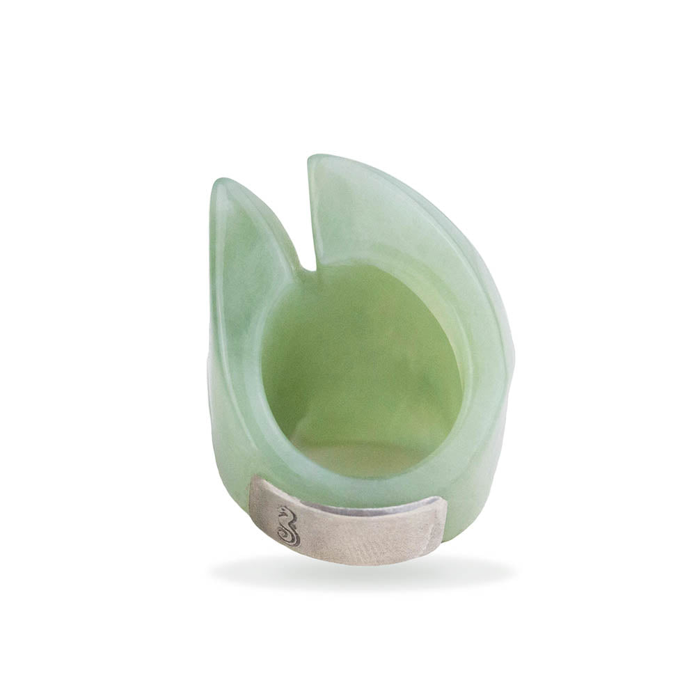 Solid Green Jade Fish Ring By Barbara Harris Water Jewels