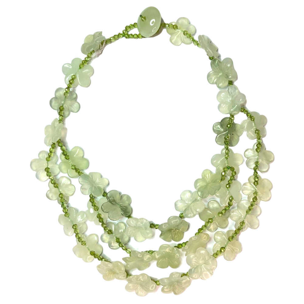 Jade Multiflower Necklace
