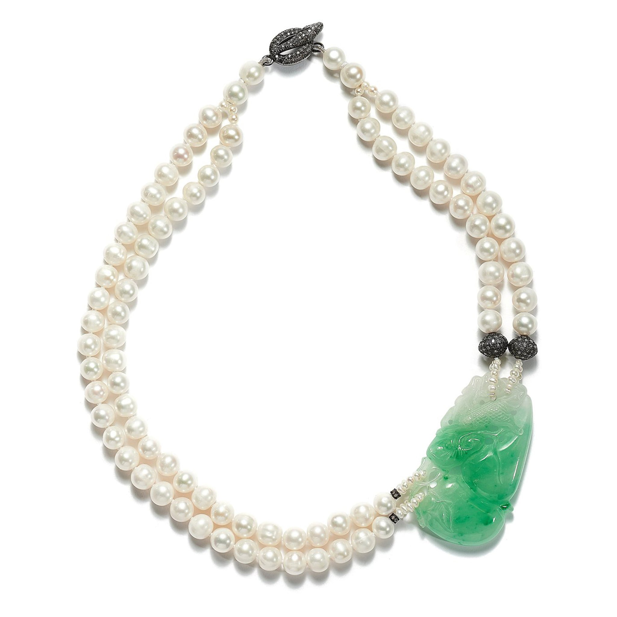 Pearl and Jade Harmony Necklace