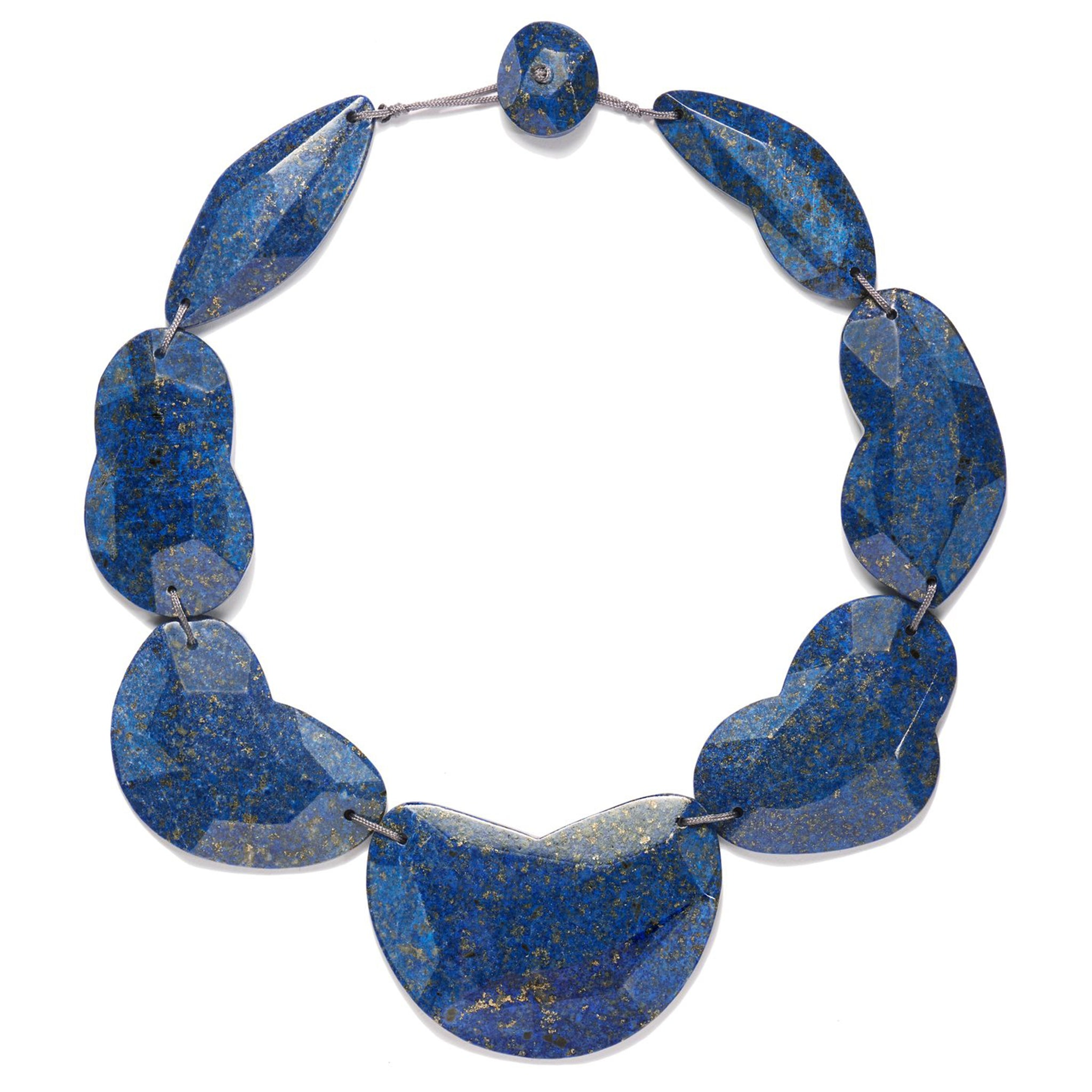Faceted Lapis Lazuli Cloud Necklace