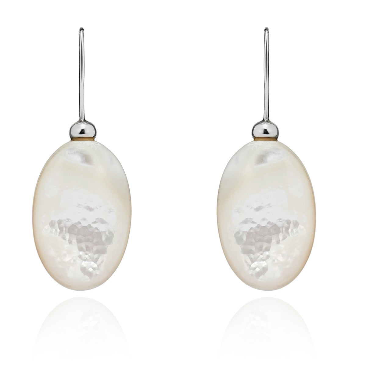 Mother of Pearl Pebble Earrings