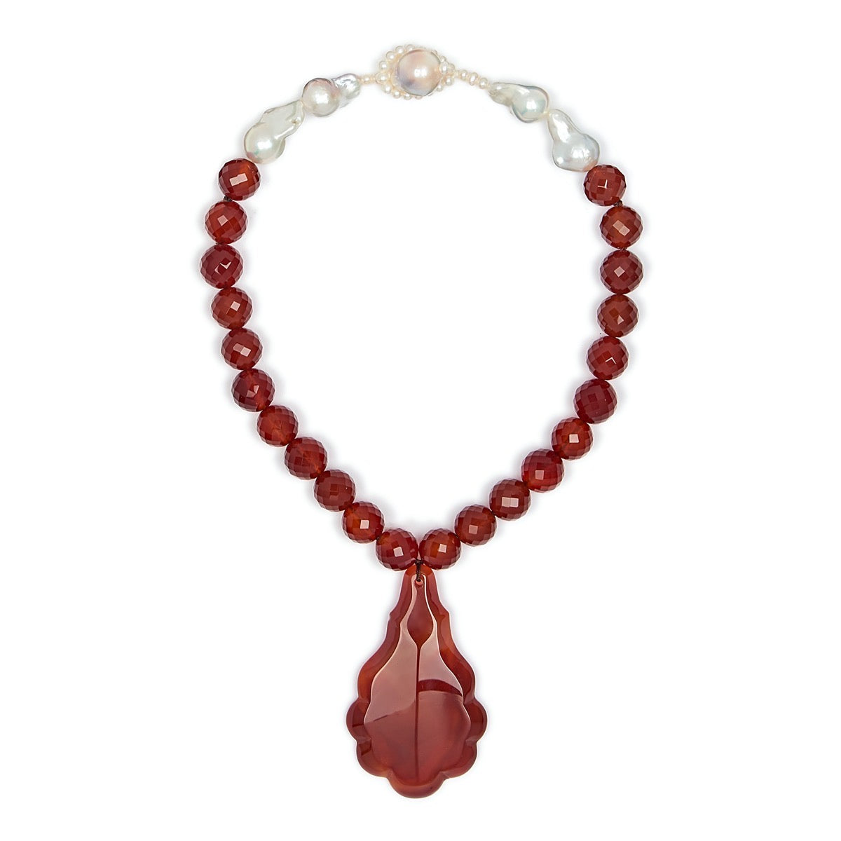 Carnelian Perfume Necklace