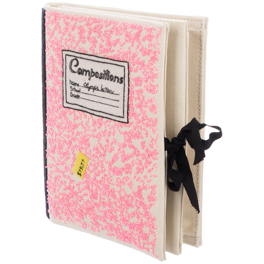 Pink Compositions Notebook Olympia Le Tan Book Clutch
