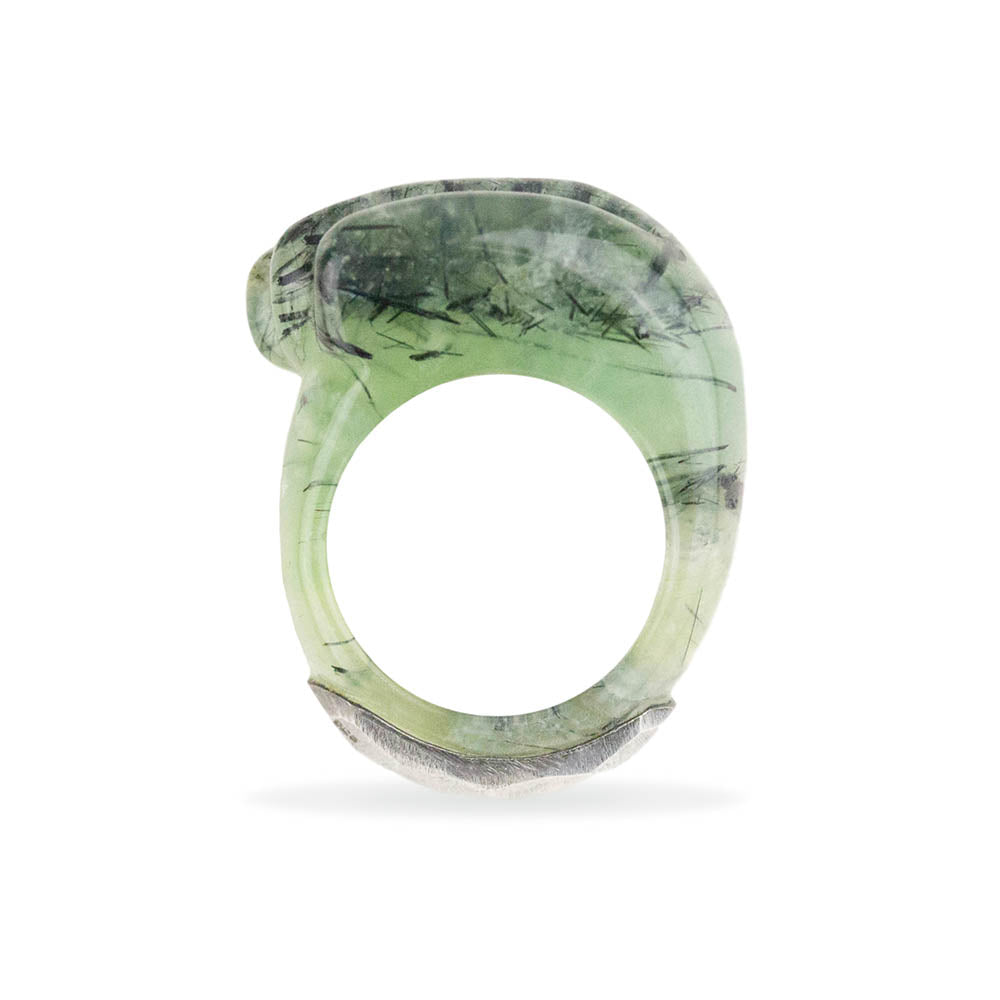 Prehnite Wave Crest Ring By Barbara Harris Water Jewels