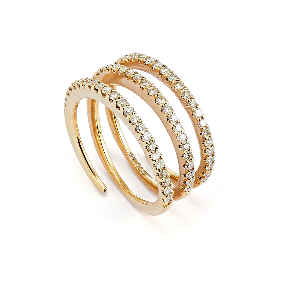 Diamond Slinky Ring