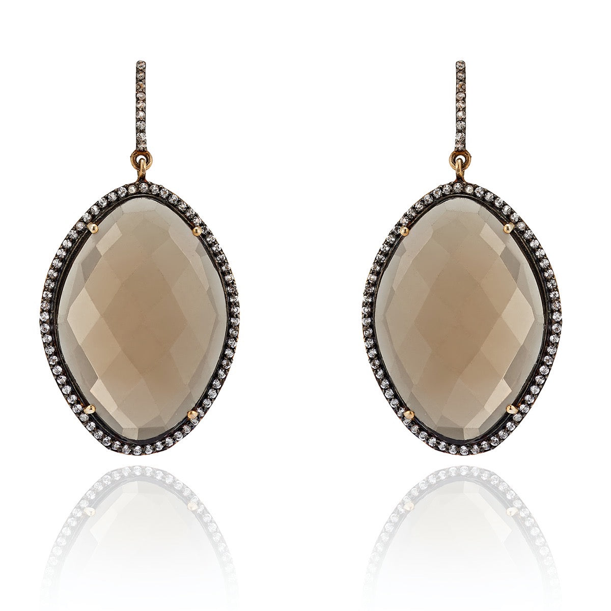 Vienna Grand Tour Smoky Quartz Earring