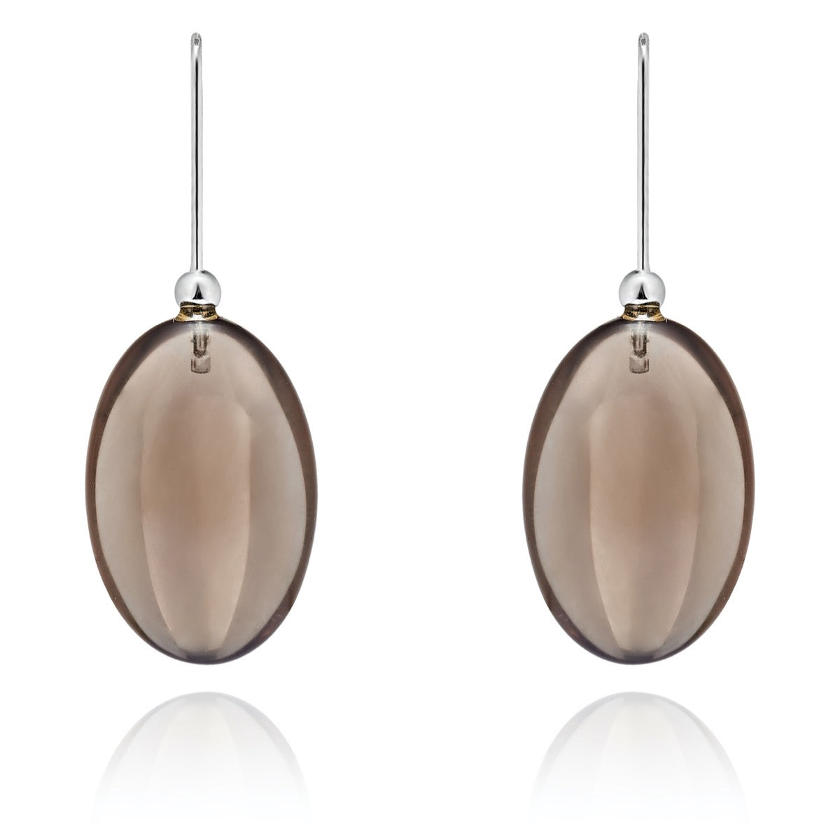 Smoky Quartz Pebble Earrings