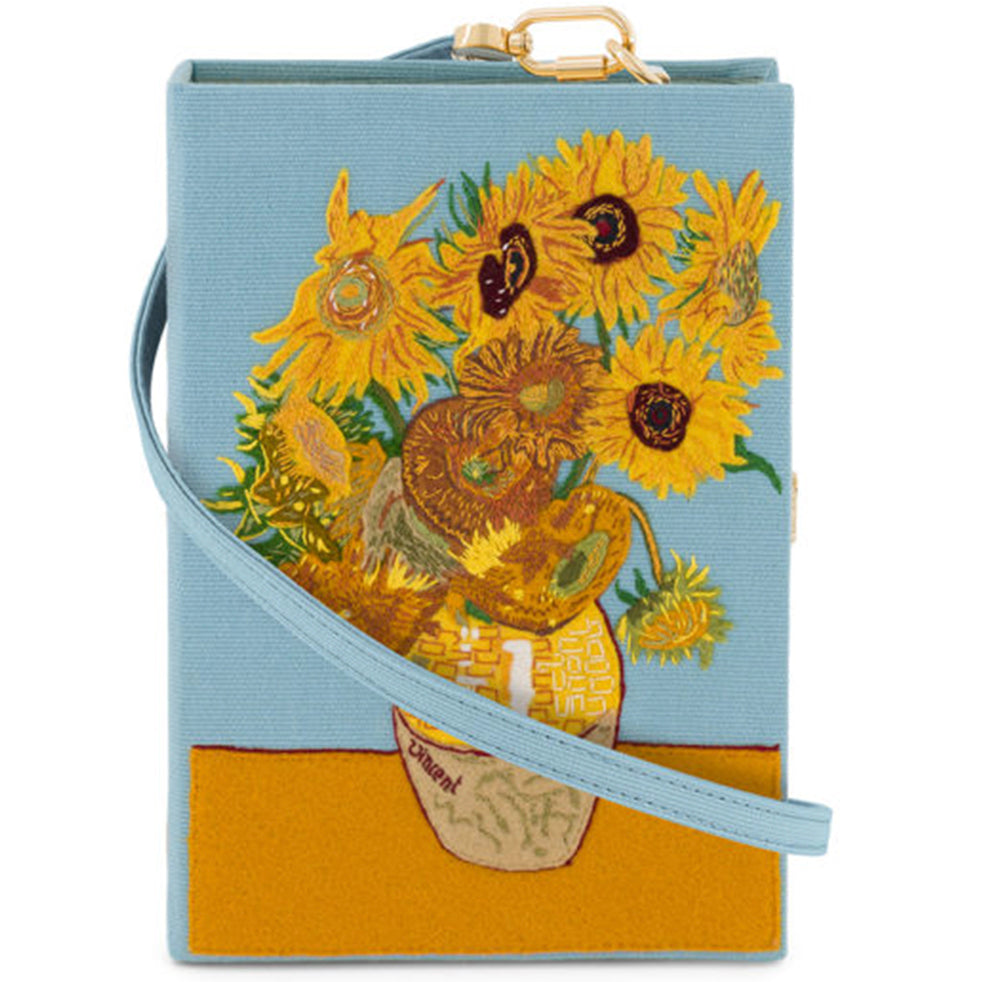 Van Gough Sunflowers Olympia Le Tan Book Clutch