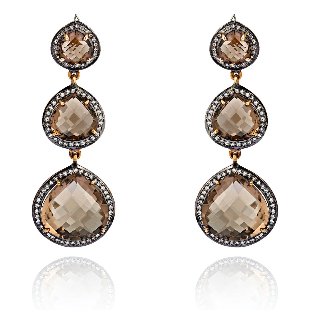 Smoky Quartz Byzance Earring