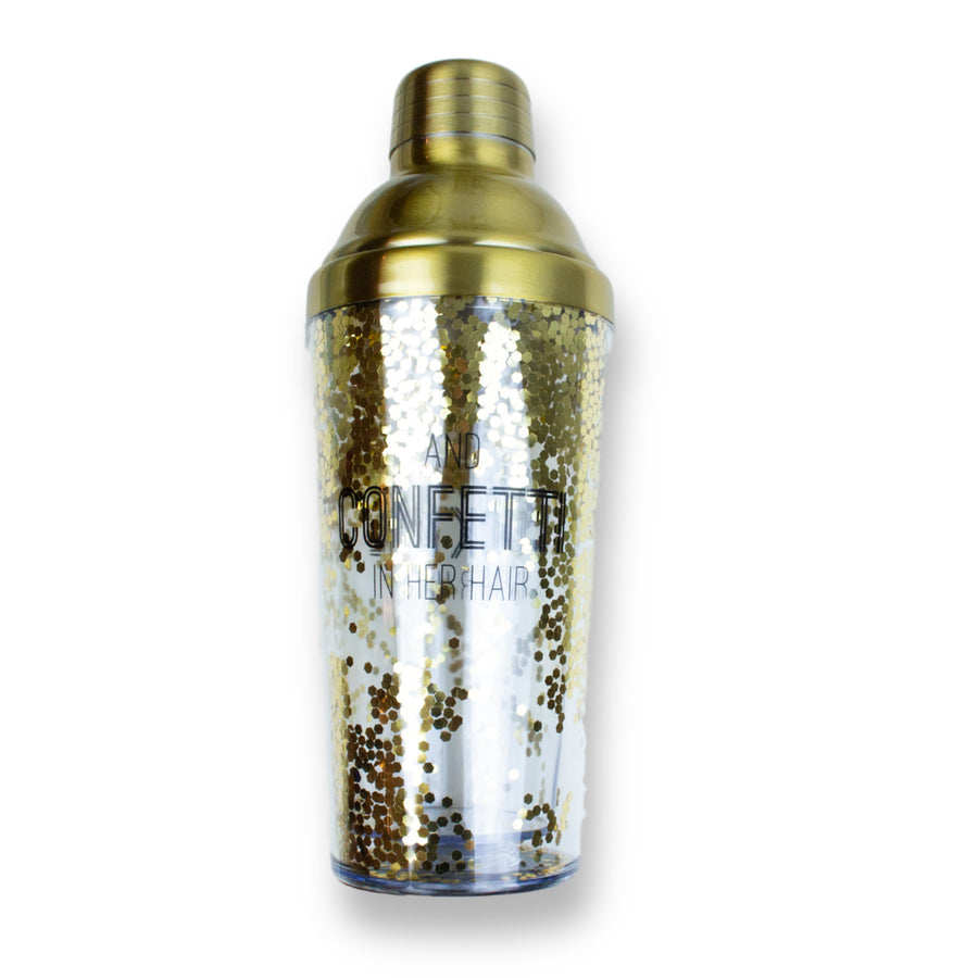 Gold Glitter Cocktail Shaker
