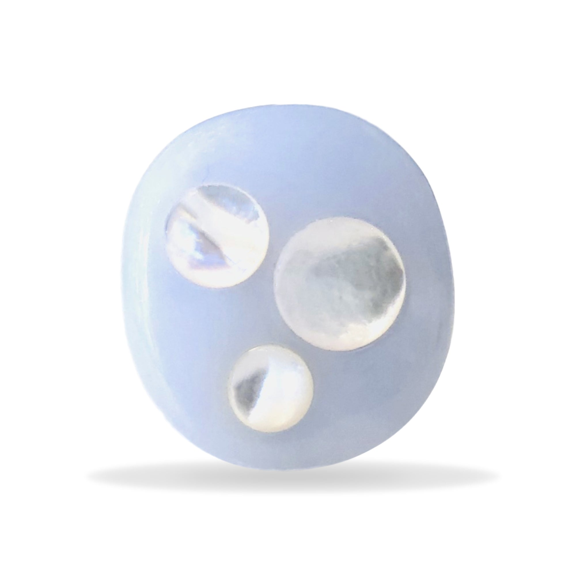 Chalcedony and Mother of Pearl Orb Ring