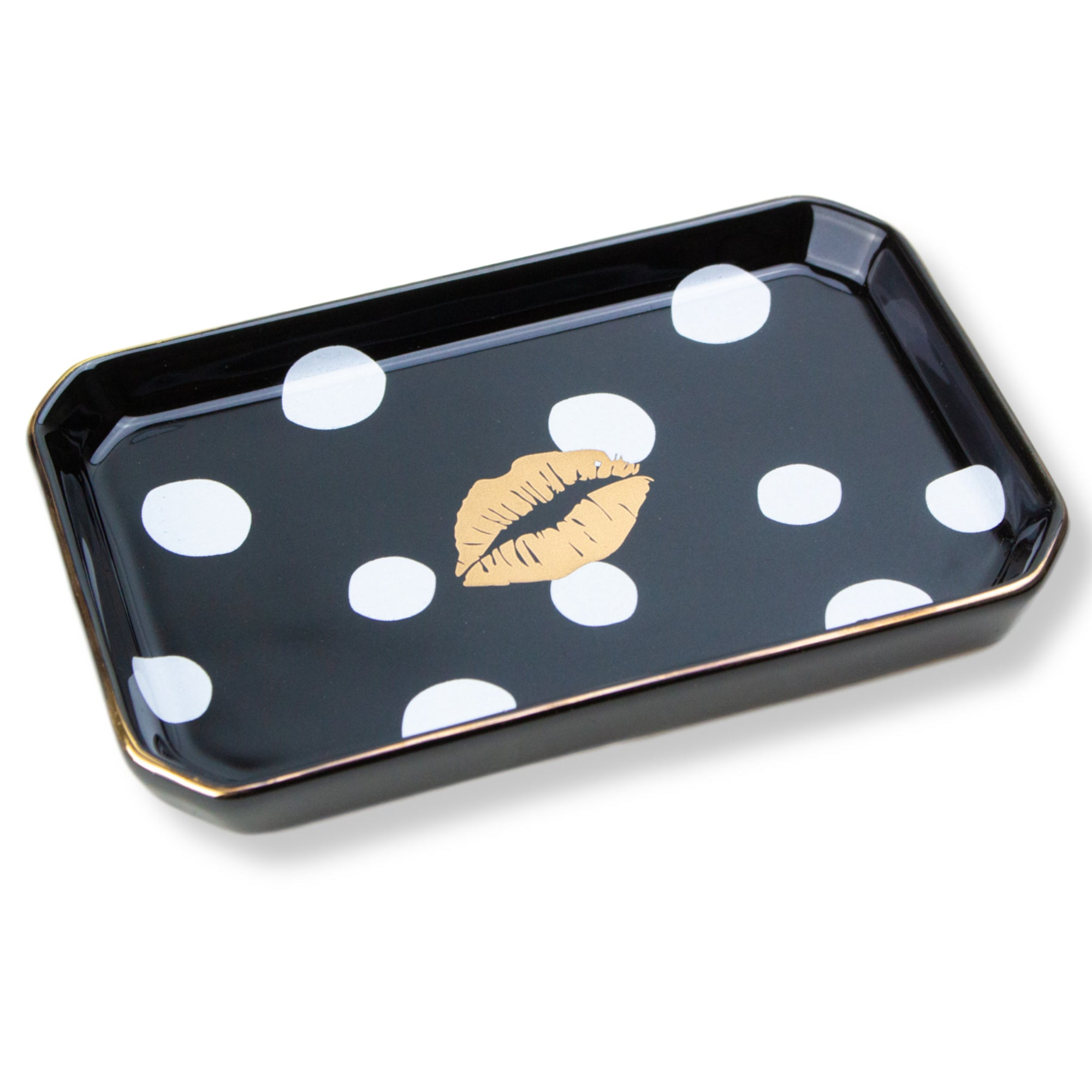 'Kiss' Porcelain Trinket Tray