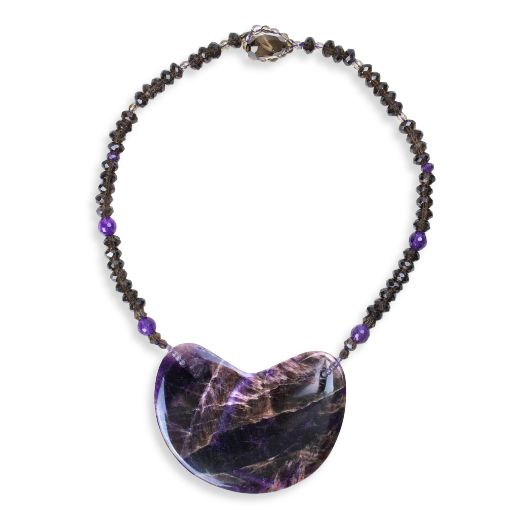 Deep Amethyst Single Cloud Necklace