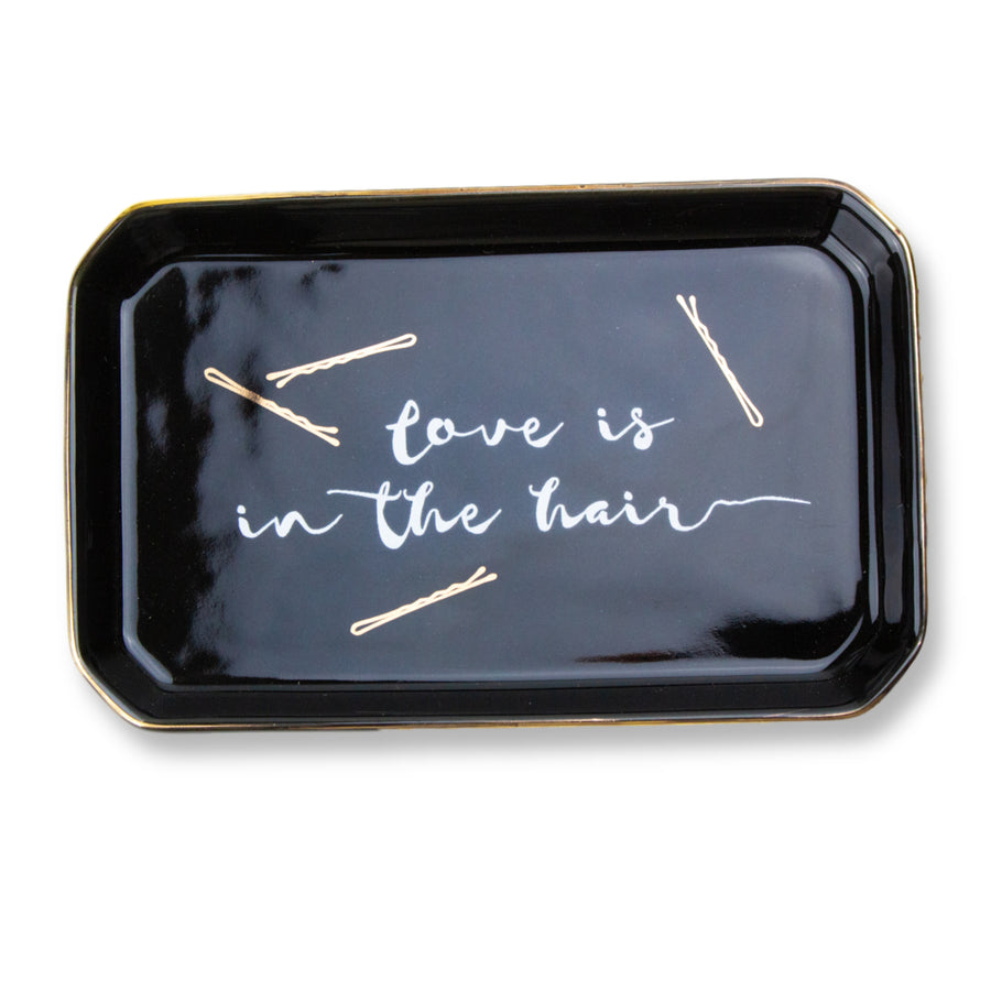 'Love Is In The Hair'  Porcelain Trinket Tray