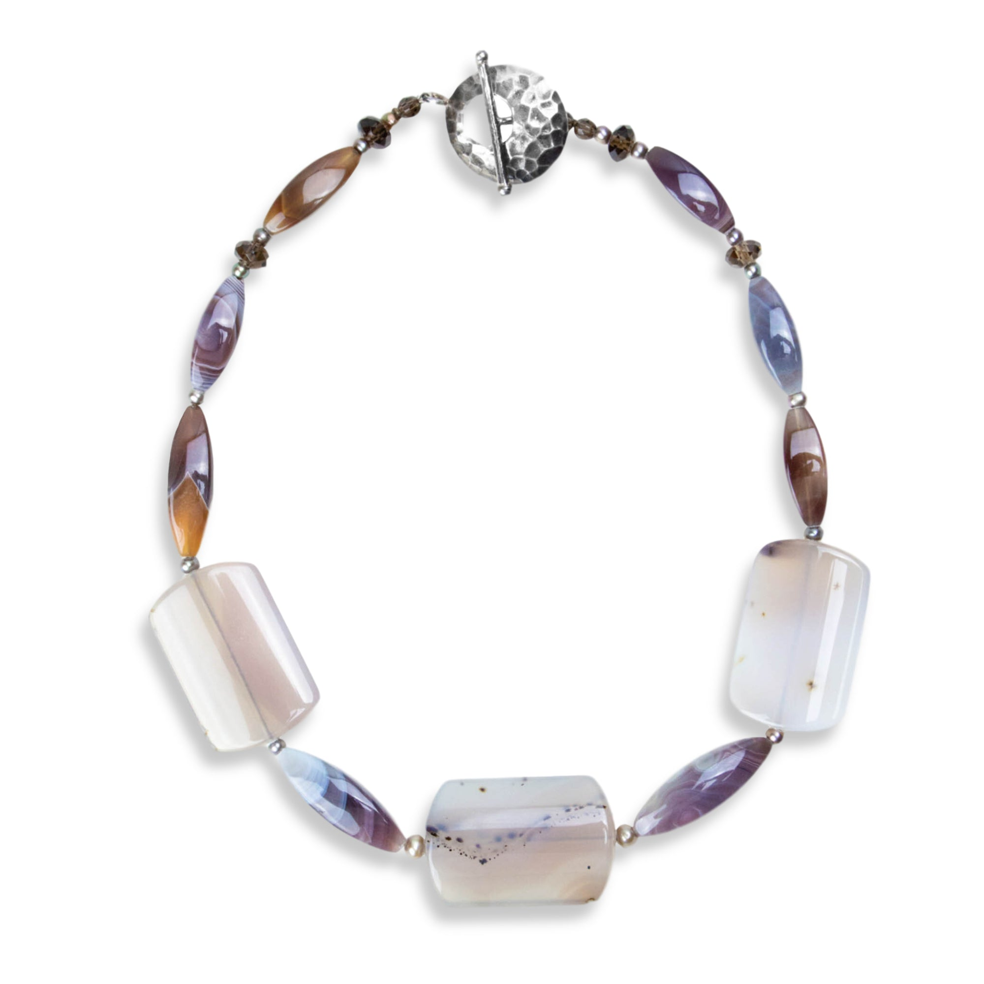 Chalcedony and Botswana Agate Necklace