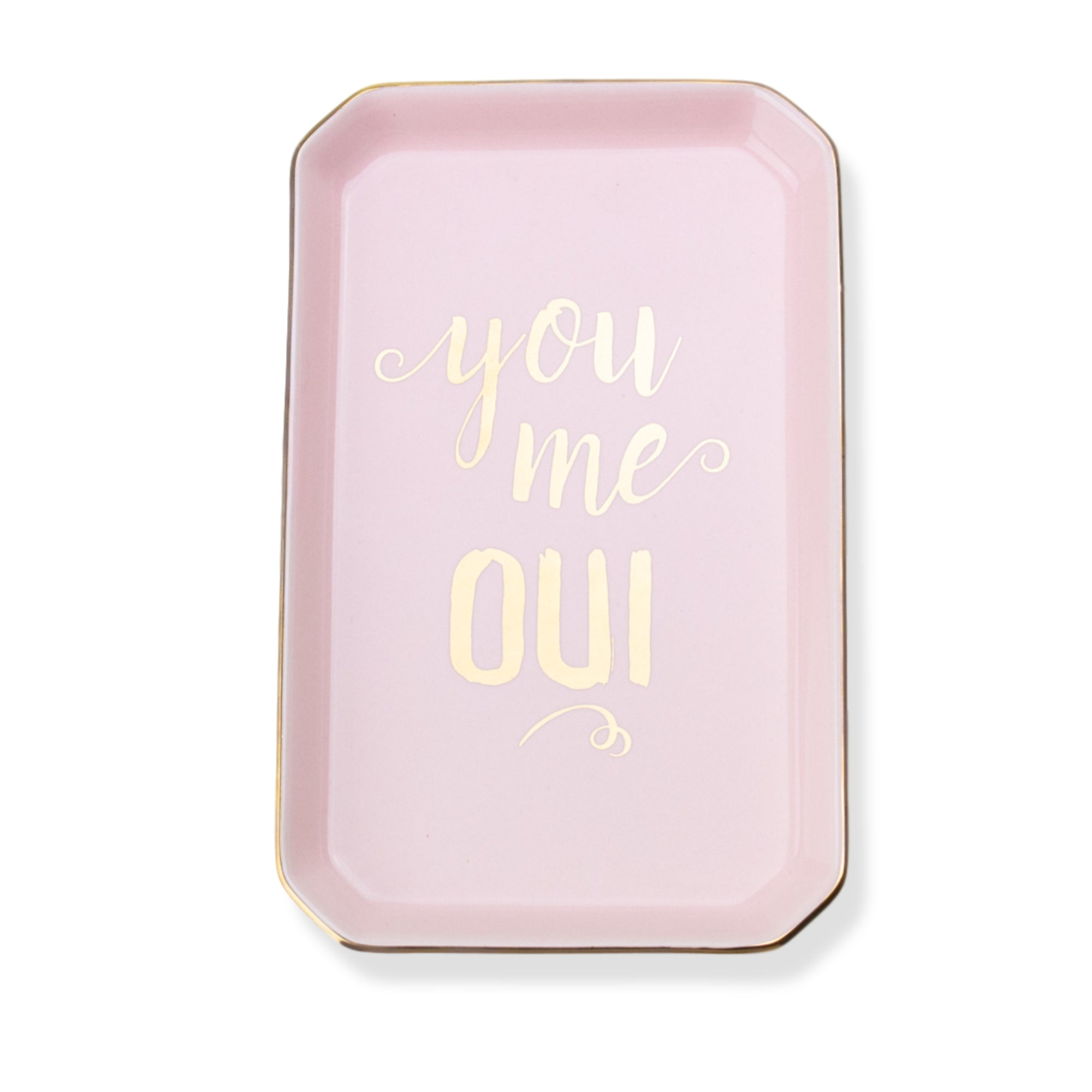 'You Me Oui' Porcelain Trinket Tray