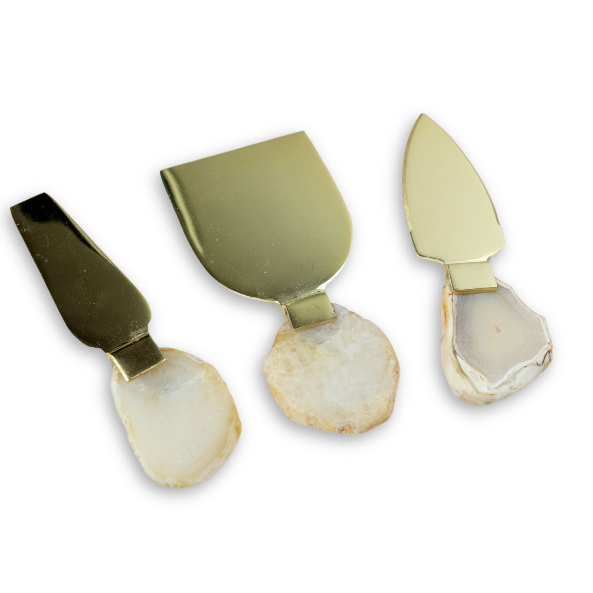 Set of 3 Agate Cheese Knives