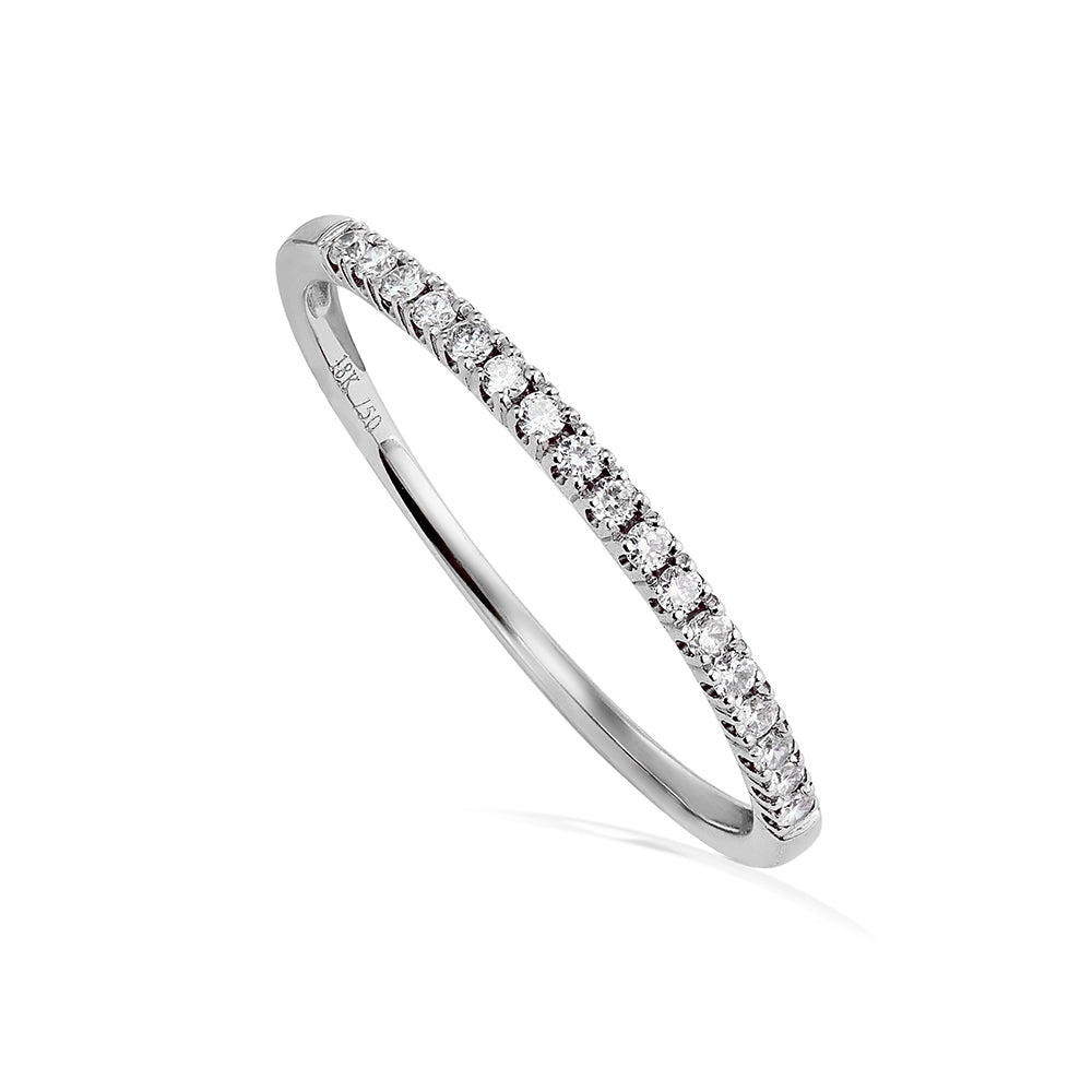 Diamond Half Whisper Stacking Ring