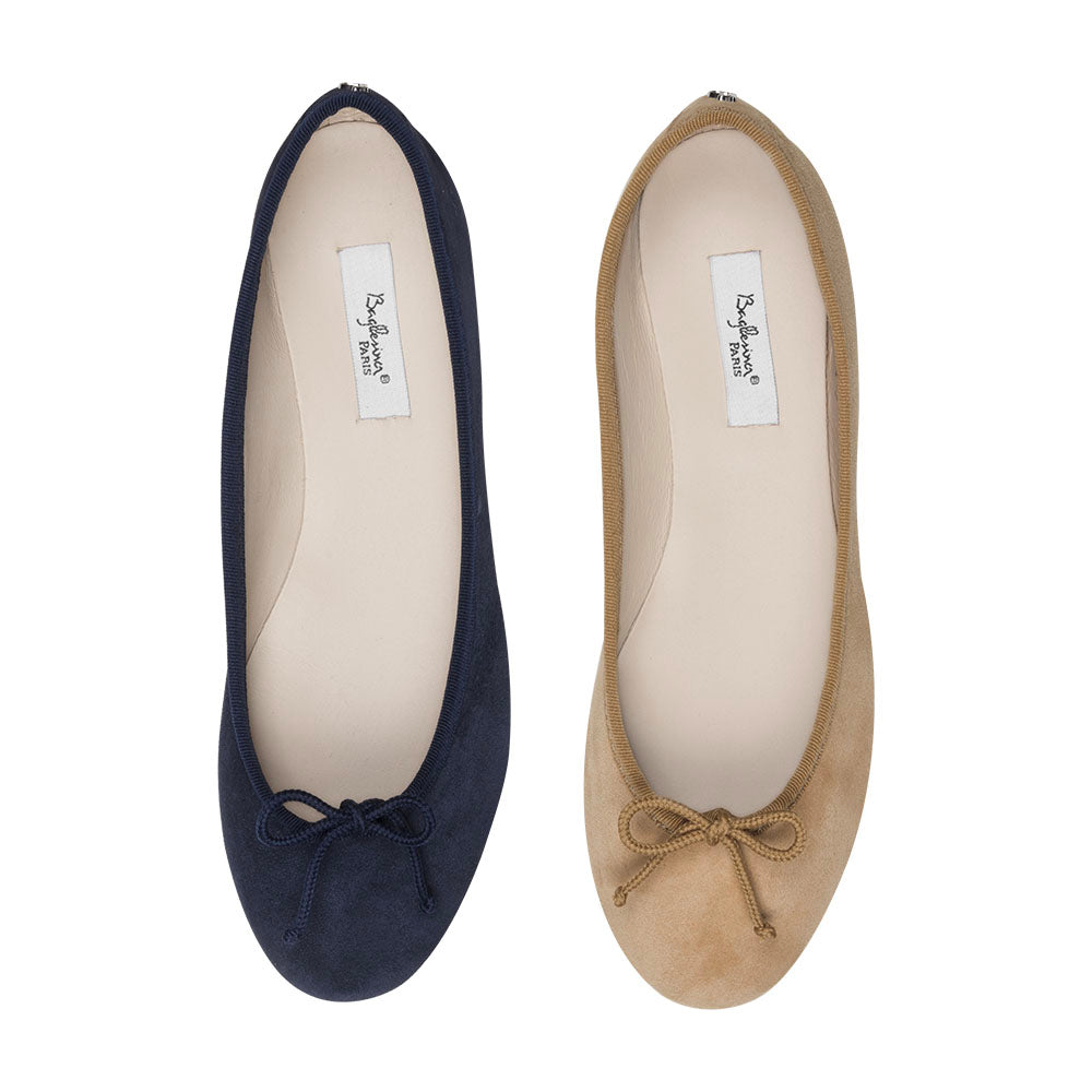 Ballet Pumps Suede with Carry Bag