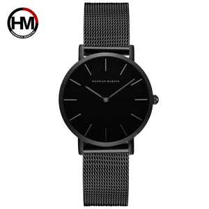 Quartz Movement - High Quality 36 Millimeter Steel Mesh Watches - Pick Your Color