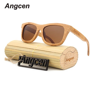 Bamboo Sunglasses for Men or Women - Polarized Retro