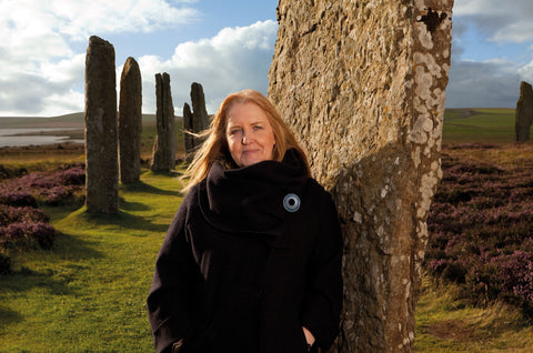Sheila Fleet at the Ring of Brodgar