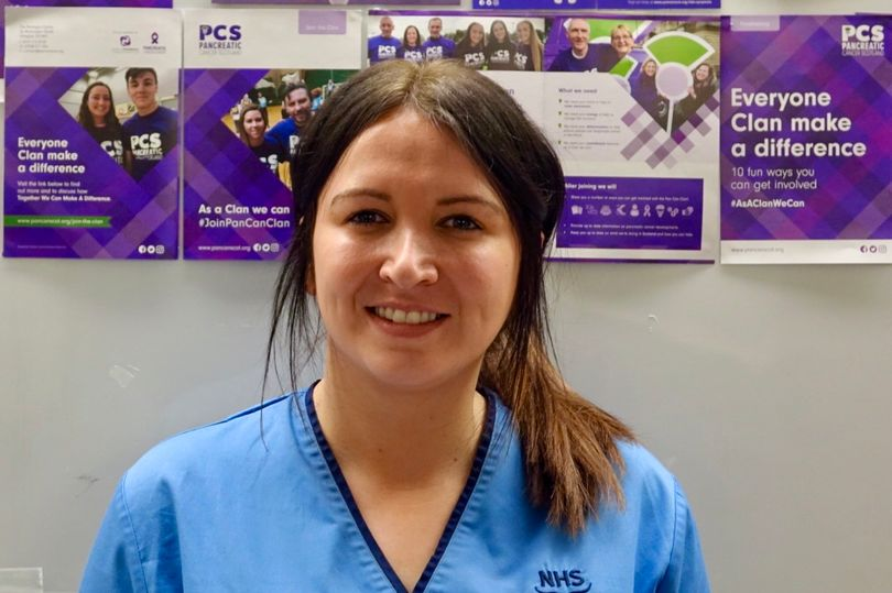 Kimberley Booth, pancreatic cancer clinical nurse specialist