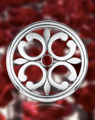Garnet Cathedral brooch