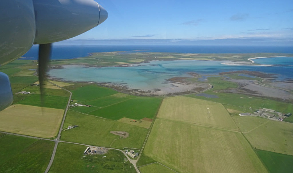 Flight over Sanday, one of Orkney's northern isles (Photo: Sheila Fleet)