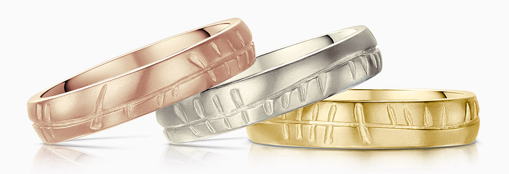The ancient script on our Ogham rings reads 'A Blessing'