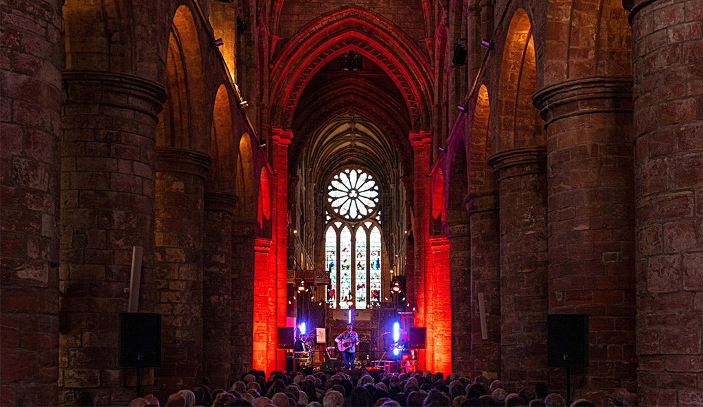 Concert in St Magnus Cathedral, Orkney (Photo: Orkney Folk Festival / Sean Purser)