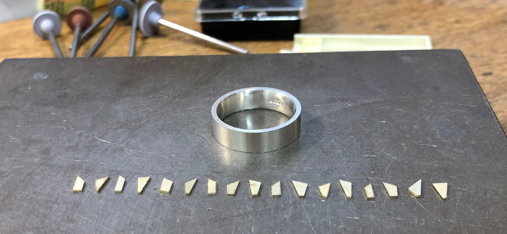 Creating Sheila's Standing Stones ring with gold from an old ring