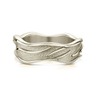 Sea Motion Ring in 18ct White Gold by Sheila Fleet Jewellery