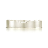 River Ripples Wedding Ring in 18ct White Gold by Sheila Fleet Jewellery