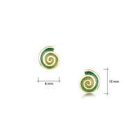 Skara Spiral Small Stud Earrings in 18ct Yellow Gold by Sheila Fleet Jewellery