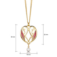 Mill Sands Petite Pendant Necklace in Enamelled 18ct Yellow Gold