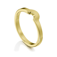 Arch Wedding Band in 18ct Yellow Gold (to match DR181) by Sheila Fleet Jewellery