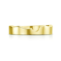 River Ripples Wedding Band in 18ct Yellow Gold by Sheila Fleet Jewellery