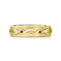Sweetheart Ruby Ring in 18ct Yellow Gold