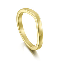 Contemporary Curve Wedding Band in 18ct Yellow Gold (to match DR181) by Sheila Fleet Jewellery