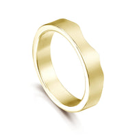 River Ripples Wedding Ring in 18ct Yellow Gold by Sheila Fleet Jewellery