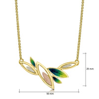 Seasons Spring Enamel Necklace in 18ct Yellow, White & Rose Gold by Sheila Fleet Jewellery