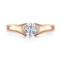 Venus 0.5ct Solitaire Diamond Ring in 9ct Rose Gold by Sheila Fleet Jewellery