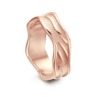 Sea Motion Ring in 9ct Rose Gold by Sheila Fleet Jewellery