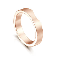 River Ripples Wedding Ring in 9ct Rose Gold by Sheila Fleet Jewellery